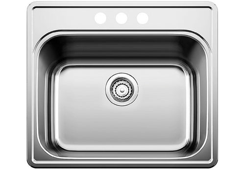 BLANCO ESSENTIAL UTILITY SINK (3 Hole, 4'' centre) Stainless Steel sink
