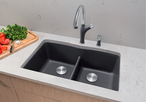 BLANCO DIAMOND U 2 LOW DIVIDE Granite composite sink in  SILGRANIT®