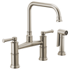Brizo Artesso® Bridge Faucet With Side Sprayer | 62525LF-GL