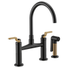 Brizo Litze® Bridge Faucet With Arc Spout | 62544LF-BLGL