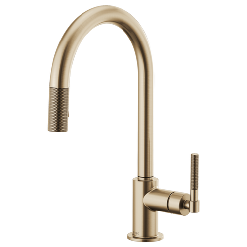 Brizo Litze® Pull Down Faucet Arc Spout And Knurled Handle | 63043LF-BLGL
