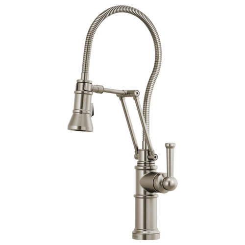 Brizo Artesso® Articulating Faucet With Finished Hose | 63125LF-GL