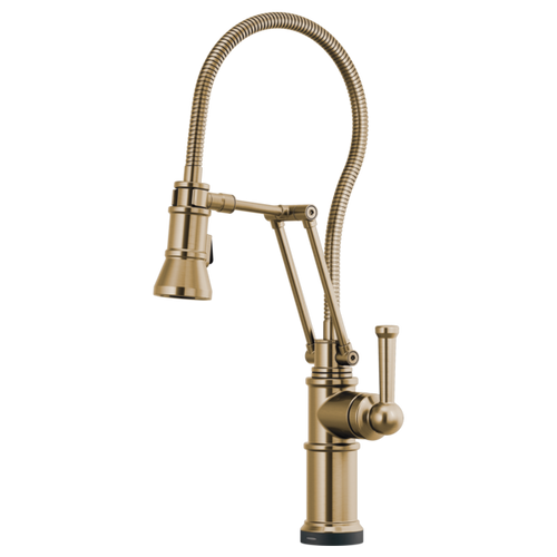Brizo Artesso® Articulating Faucet With Finished Hose | 64125LF-GL