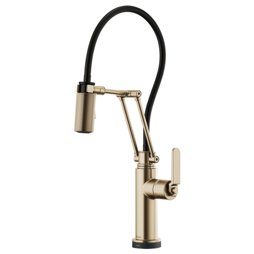 Brizo Litze® Smarttouch® Articulating Faucet With Industrial Handle | 64244LF-BLGL