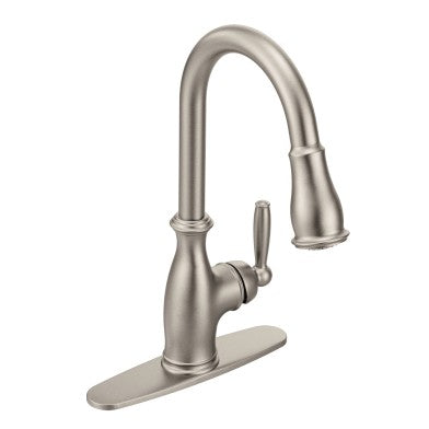 Moen Brantford Chrome One Handle Arc Pulldown Kitchen Faucet | 7185C