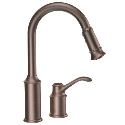 Moen Aberdeen Chrome One Handle Arc Kitchen Faucet | 7590C