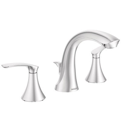Moen Darcy Spot Resist Brushed Nickel Two Handle Arc Bathroom Faucet | WS84551SRN
