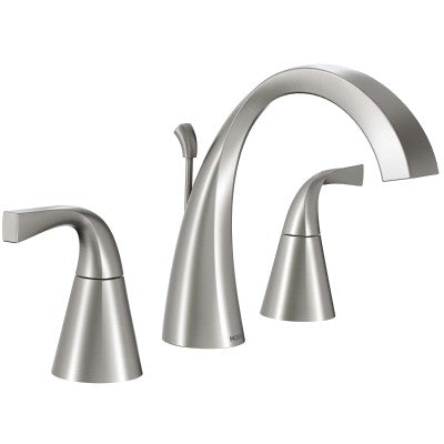 Moen Oxby Spot Resist Brushed Nickel High Arc Bathroom Faucet | WS84661SRN