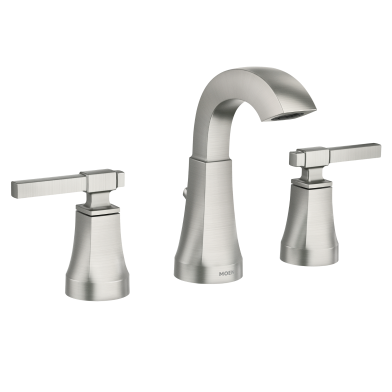 Moen Ayda Two Handle High Arc Widespread Bathroom Faucet | 84748SRN