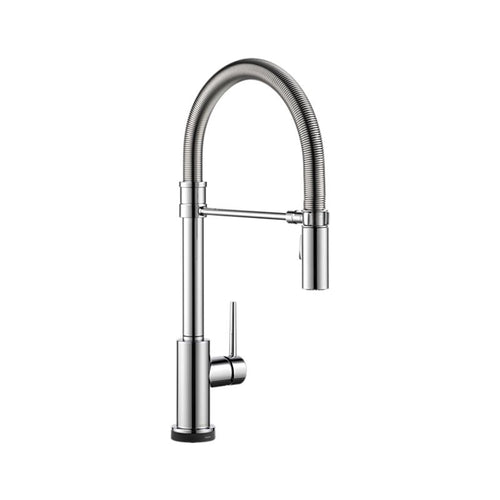 TRINSIC PRO Single Handle Pull-Down Spring Spout Kitchen Faucet with Touch2O Technology