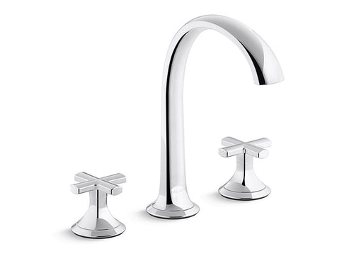 SINK FAUCET, ARCH SPOUT, CROSS HANDLES