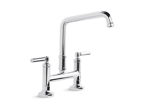DECK-MOUNT BRIDGE FAUCET, LEVER HANDLES QUINCY™ by Kallista