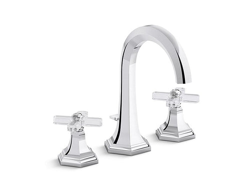 Kallista Sink Faucet, Tall Spout, Crystal Cross Handles