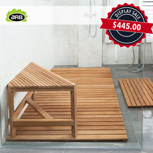 Teak Fiji Shower Bench & Corner Flat Seat