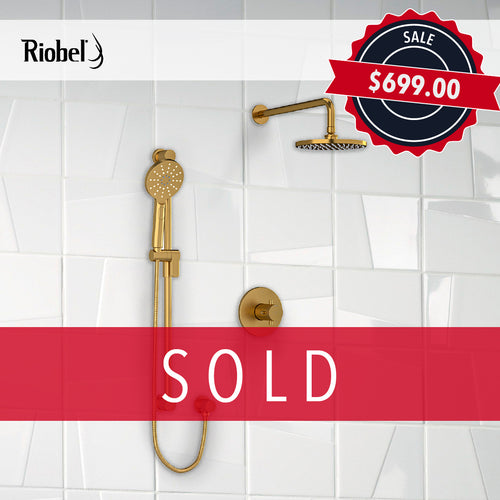 Riobel Riu Shower Kit Brushed Gold