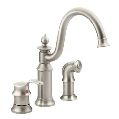 Moen Waterhill Chrome High Arc Kitchen Faucet | S711