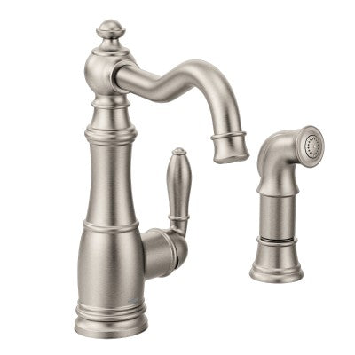 Moen Weymouth Chrome One-Handle Kitchen Faucet | S72101