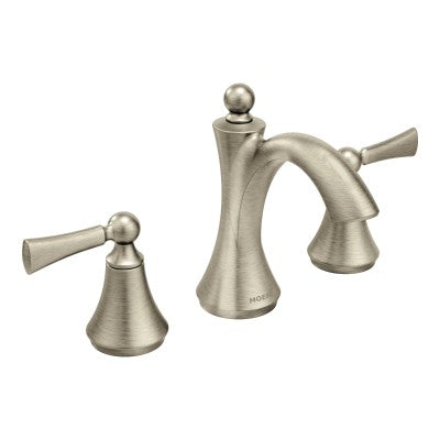 Moen Wynford Oil rubbed bronze two-handle high arc bathroom faucet