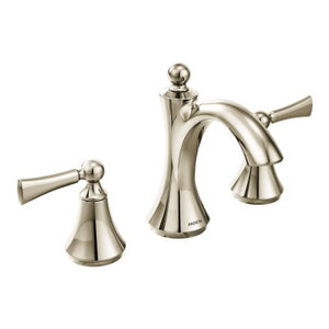 Moen Wynford Chrome two-handle high arc bathroom faucet