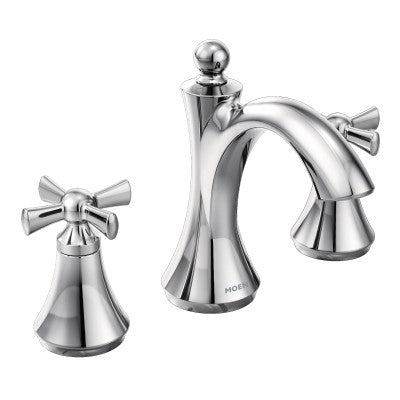 Moen Wynford Polished Nickel Two Handle Bathroom Faucet | T4524NL