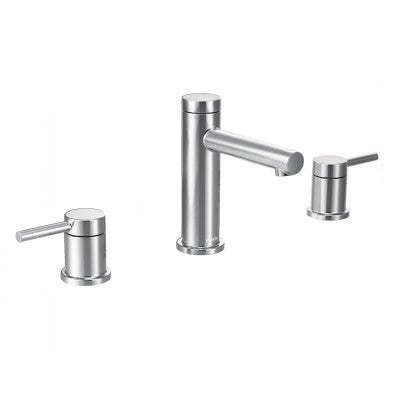 Moen Align matte black two-handle widespread bathroom faucet