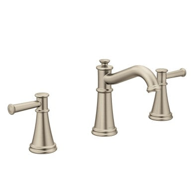 Moen Belfield Brushed nickel two-handle high arc bathroom faucet
