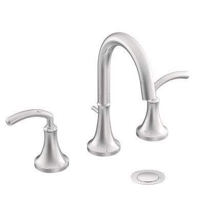 Moen Icon Chrome two-handle high arc bathroom faucet