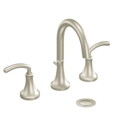 Moen Icon Brushed Nickel Two Handle Arc Bathroom Faucet | TS6520BN