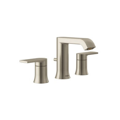 Moen Genta Brushed Nickel Two Handle Arc Bathroom Faucet | T6708BN