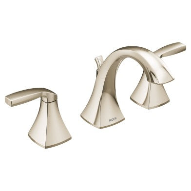 Moen Voss Polished Nickel High Arc Bathroom Faucet | T6905NL