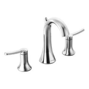 Moen Fina Chrome two-handle high arc bathroom faucet