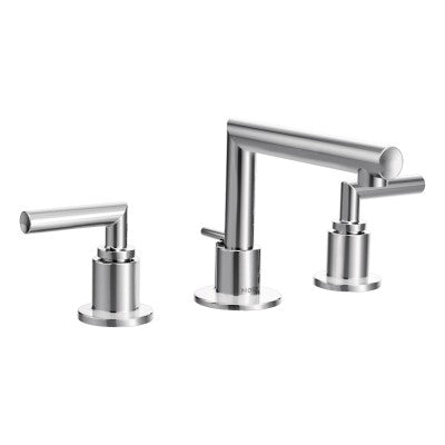 Moen Chrome Two Handle Arc Bathroom Faucet | TS43002