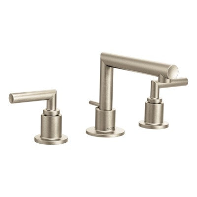 Moen Brushed Nickel Two Handle Arc Bathroom Faucet | TS43002