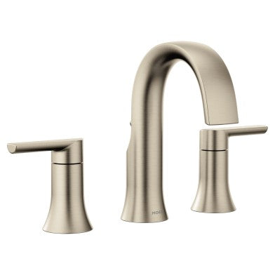 Moen Doux Brushed Nickel High Arc Bathroom Faucet | TS6925BN