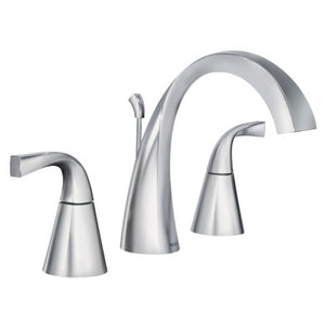 Moen Oxby Chrome two-handle high arc bathroom faucet