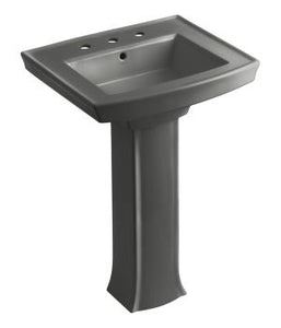 "Archer® pedestal lavatory with 8"" centers"