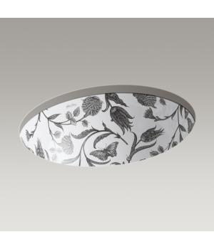 Kohler Botanical Study Caxton Under-Mount Bathroom Sink | K-14218-BT