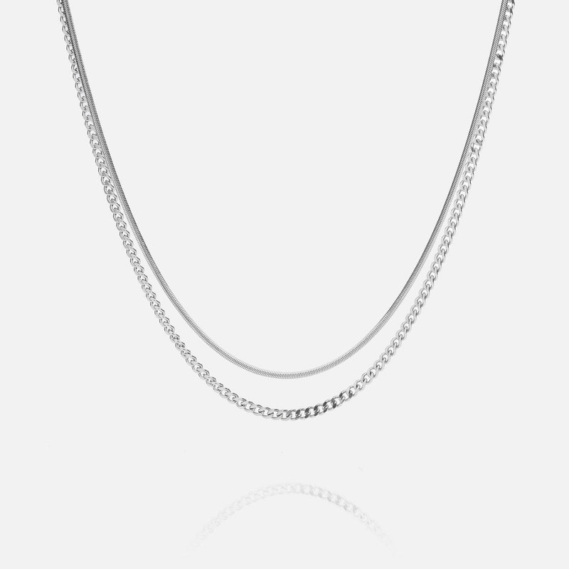 2.5mm Cuban + 2mm Snake Chains Bundle - THE GASPER