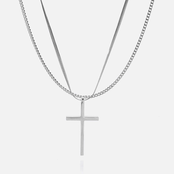 Cross + 2.5mm Cuban Chain Bundle - THE GASPER