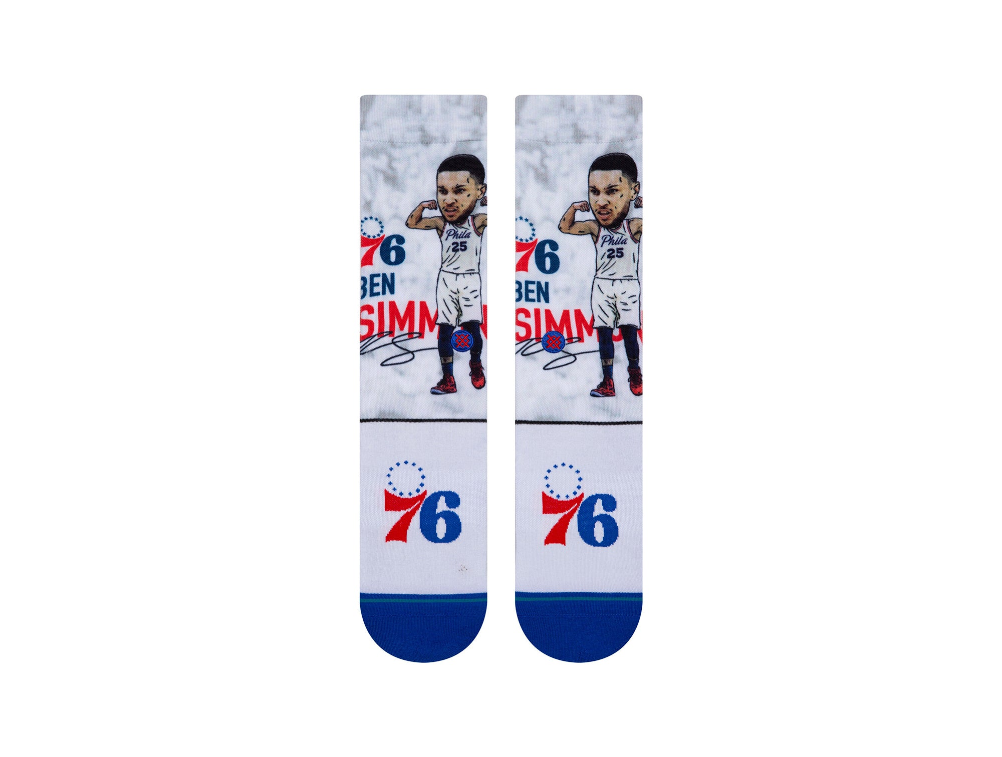Calcetin Stance Simmons Big Head Unisex Azul