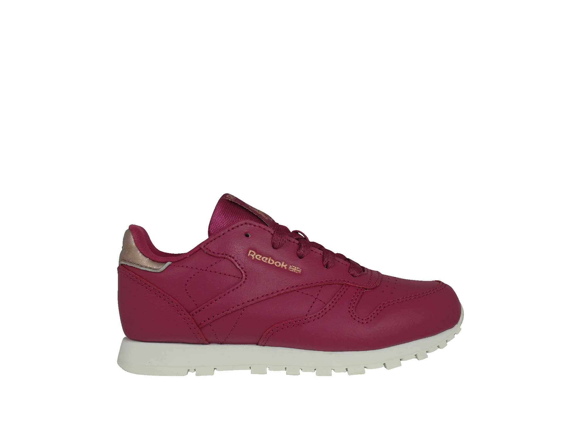 Zapatilla Reebok Cl Leather Junior Burdeo