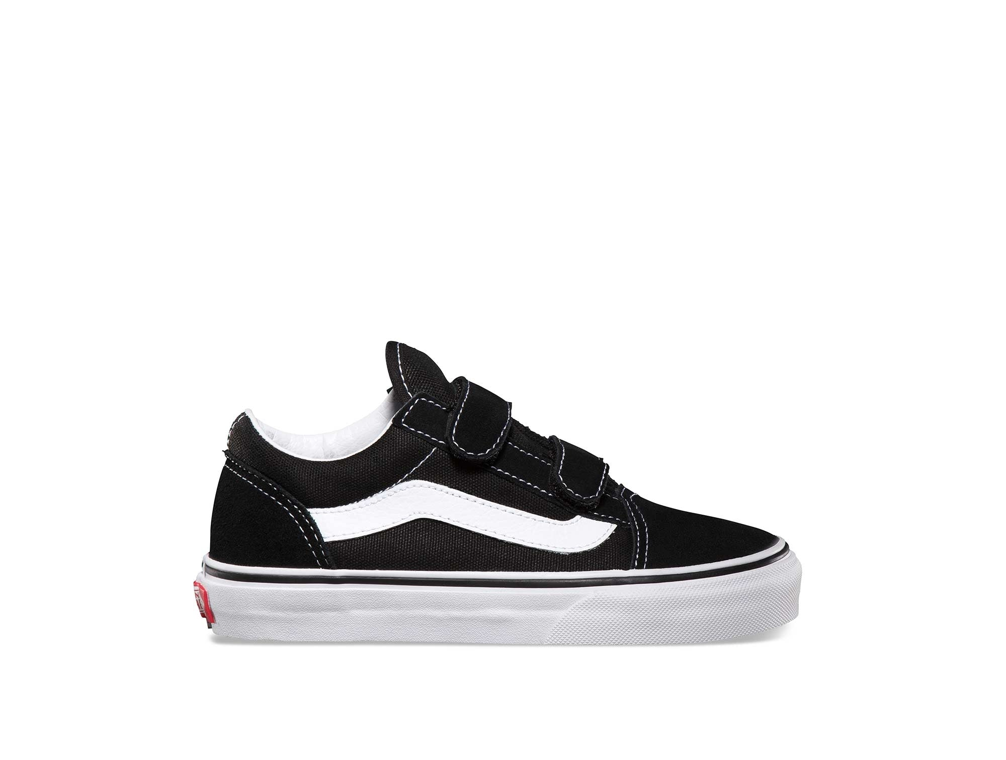 Zapatilla Vans Old Skool Velcro Junior Negro