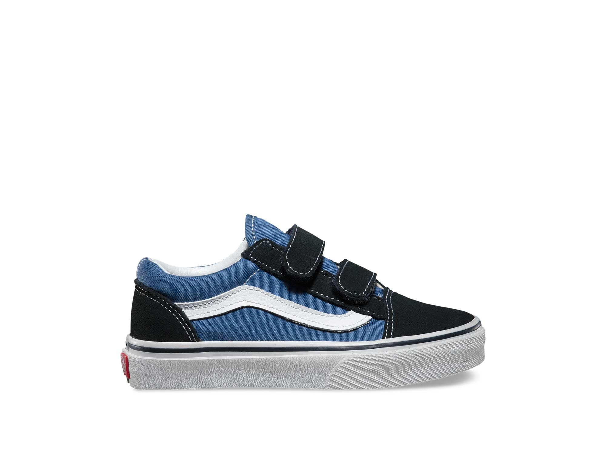 Zapatilla Vans Old Skool Velcro Junior Azul