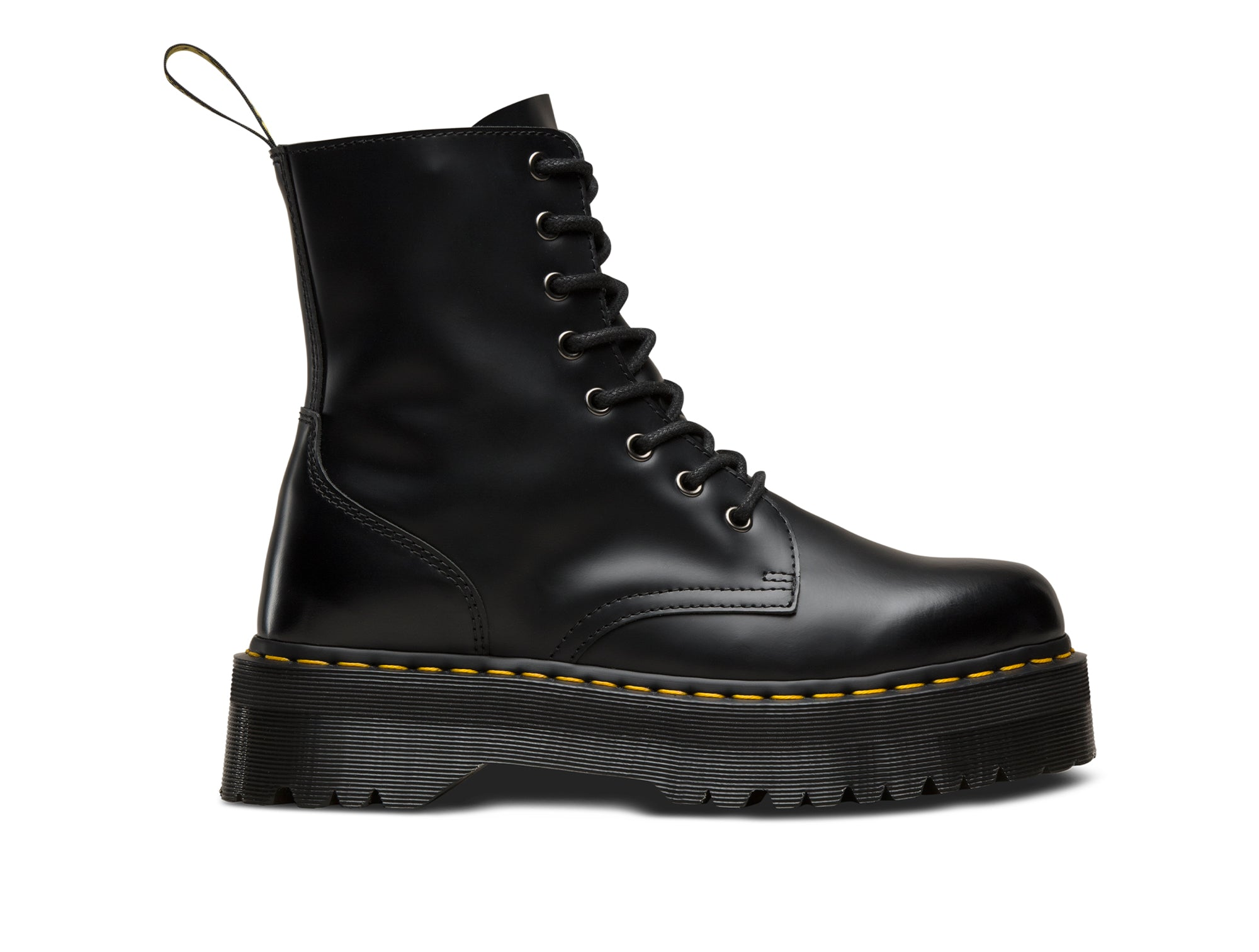 Dr Martens Jadon Polished Smooth Mujer Negro