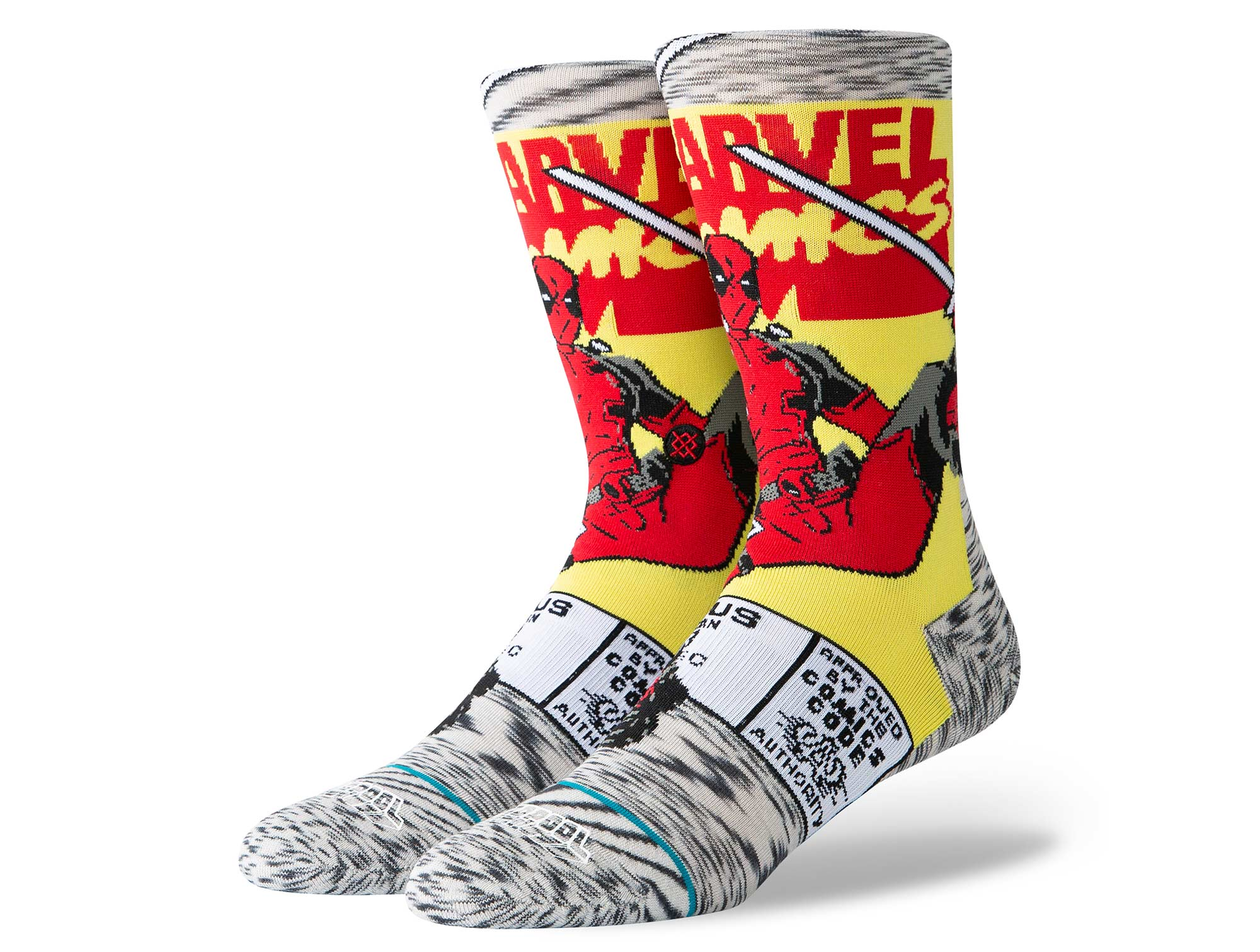 Calcetines Stance Deadpool Comic Mujer Gris