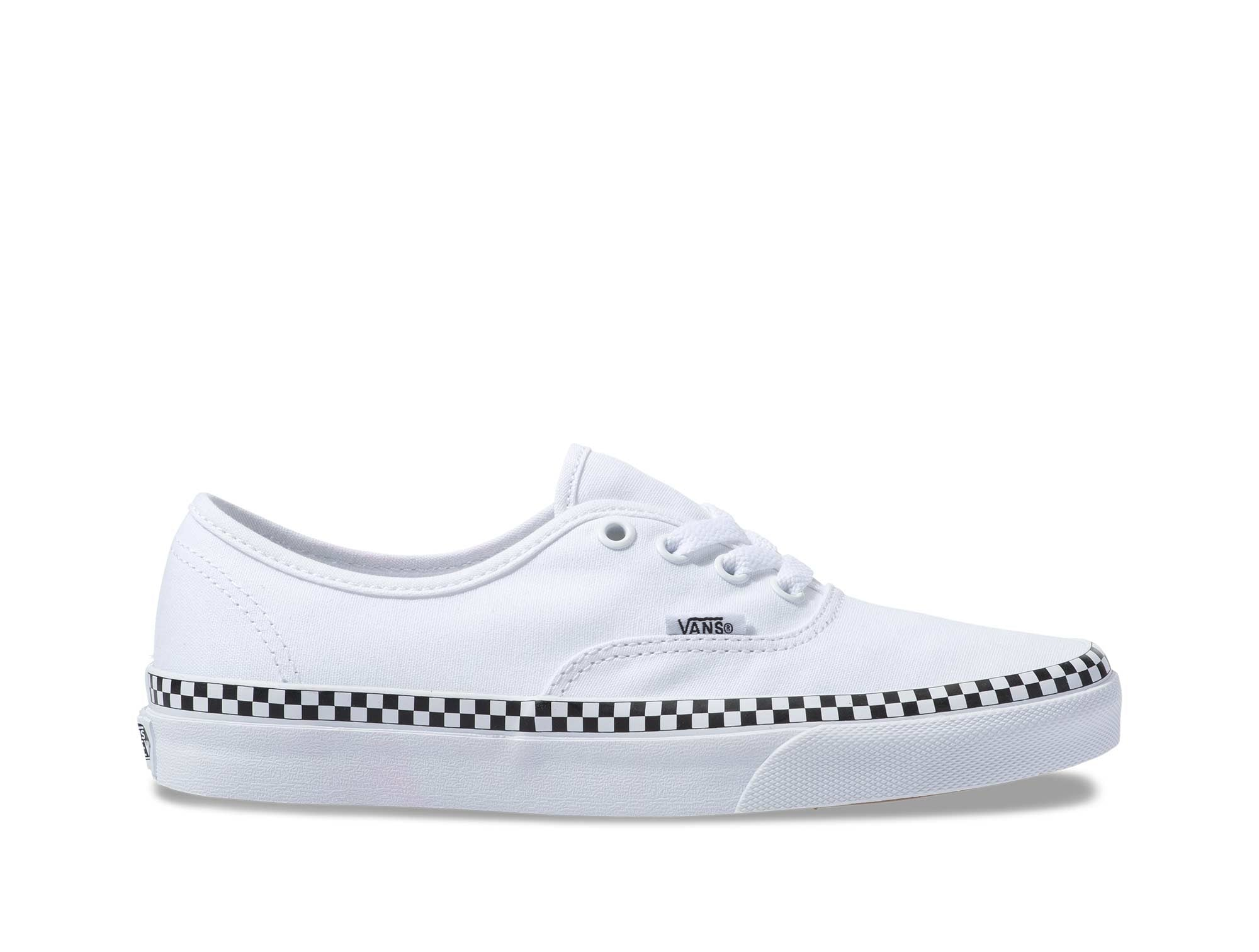 Zapatilla Vans Authentic Check Foxing Mujer Blanco