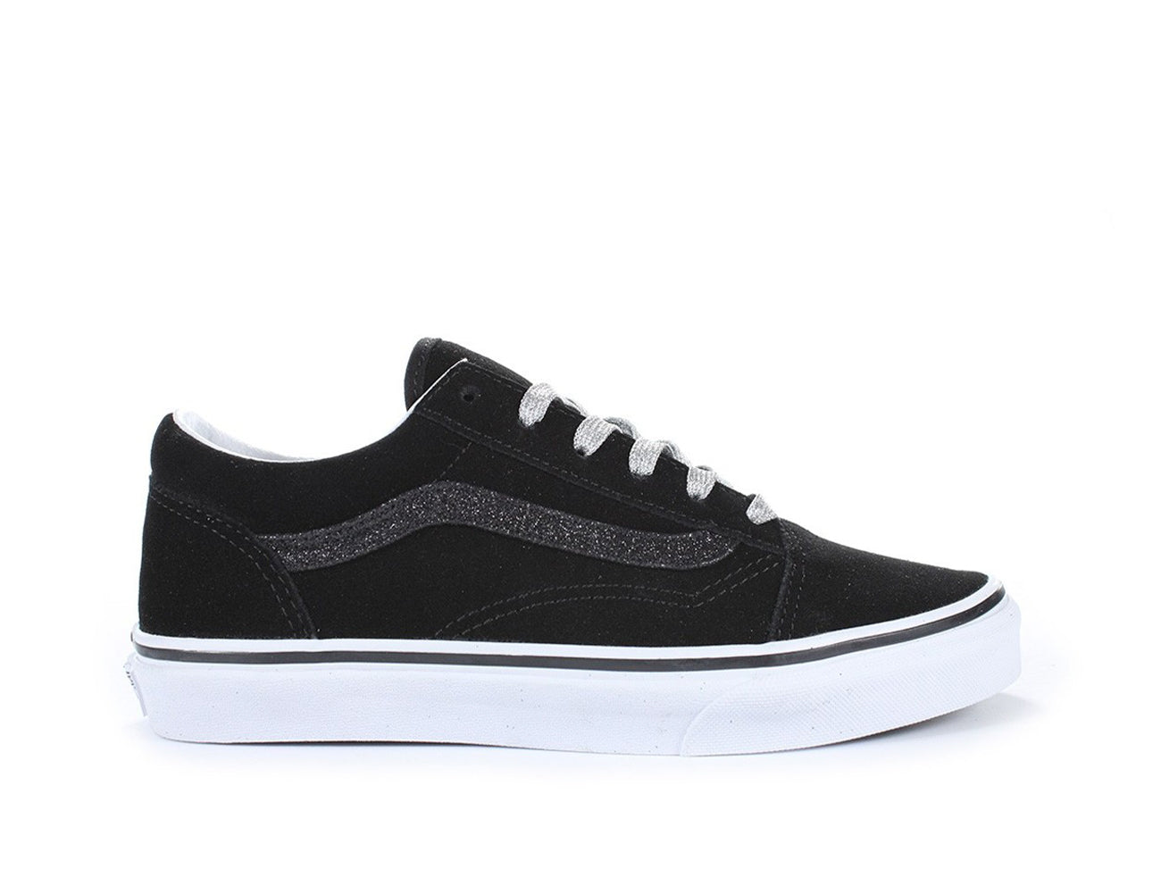 Zapatilla Vans Old Skool Glitter Sidestripe Junior Negro