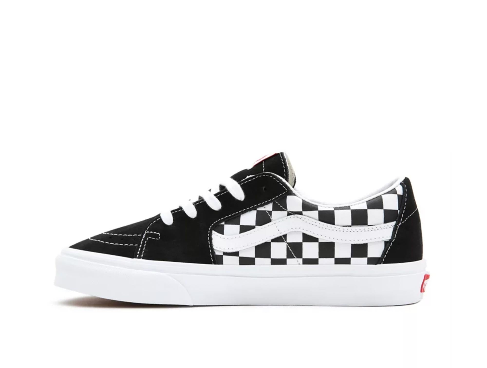 Zapatilla Vans Sk8-Low Checker Unisex Negro
