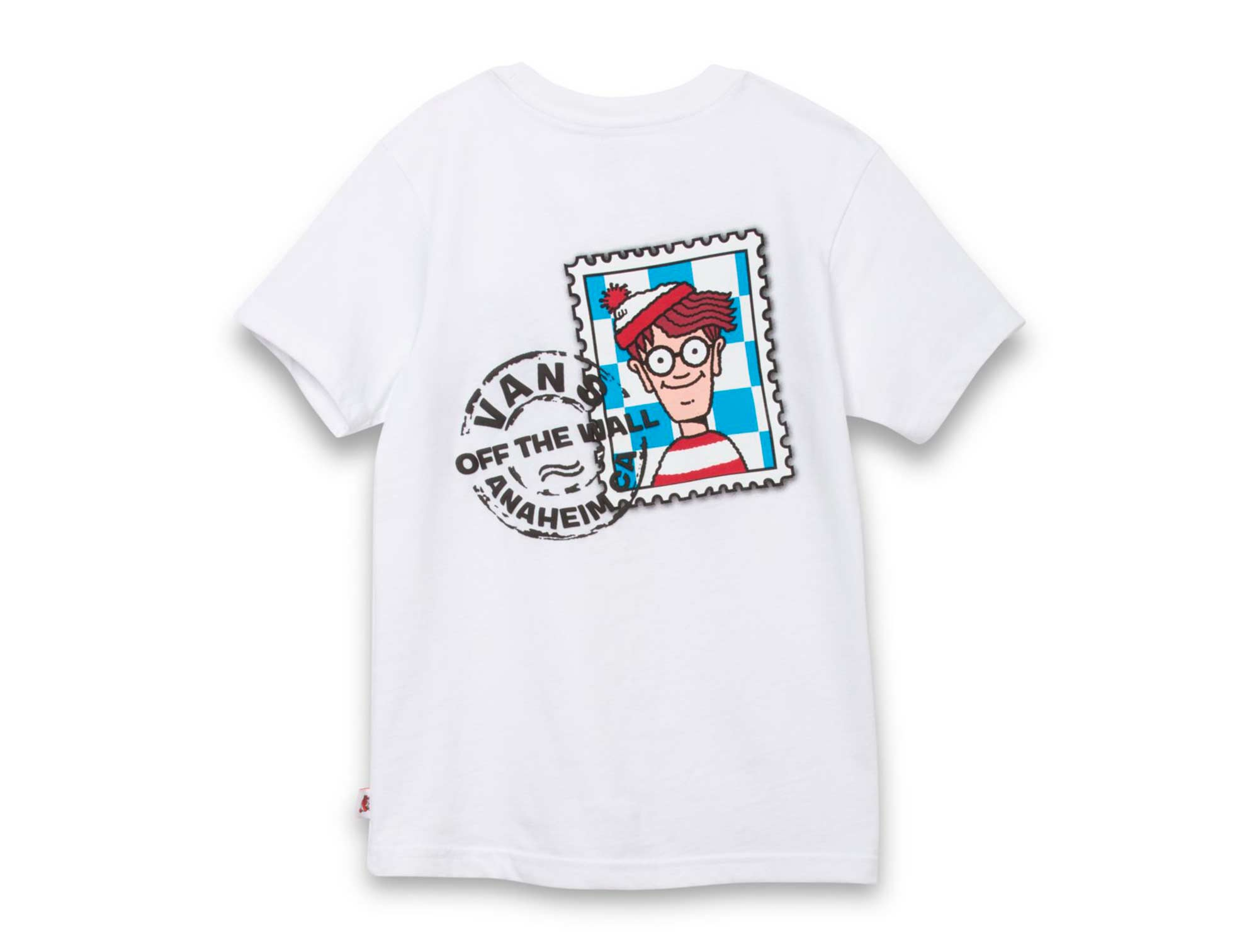 Polera Vans X Wheres Wally Niño Blanco