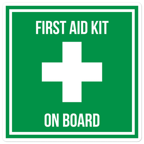 Medical Kit On Board Sticker